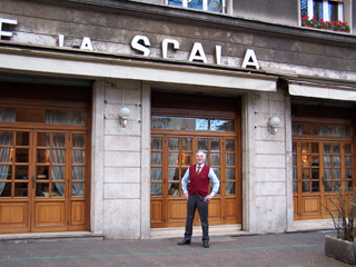 Fabio proud owner of La Scala Ristorante in Parioli
