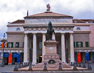 Opera House in Piazza de Ferrari in Genova