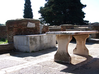 Ostia Antica fish market and taverna