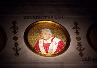 Portrait of Pope Bendict XVI - Basilica di San Paolo
