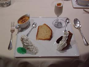 Dolci tasting plate at George's in Grand Hotel Parker's, Naples