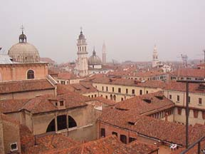Londra Palace roof deck view of Venice