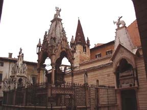 Gothic Scaligeri Graves at St. Maria Antica Church in Verona