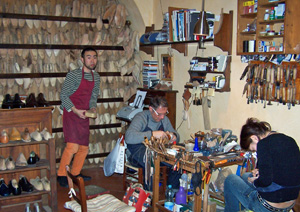 Roberto Ugolini hard at work making shoes by hand in Firenze, Italy.