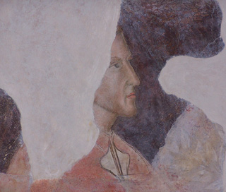 The earliest confirmed portrait of Dante Alighieri at Alle Murate, Firenze, Italy.