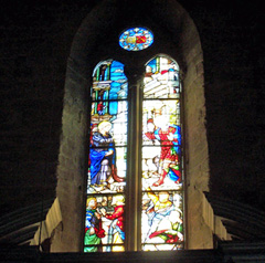 Stained glass windows by Guglielmo de Marcillat, Duomo, Arezzo, Italy.