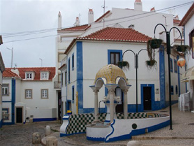 Old town Ericeira, Portugal - whitewashed houses