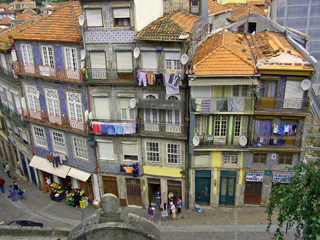Typical street in Porto, Portugal