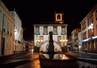 Ponta Delgada City Hall night scene